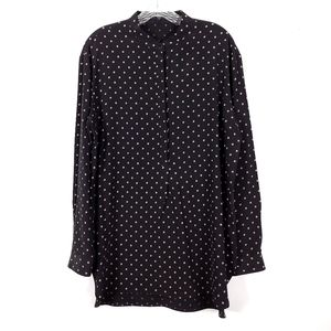 TIBI 100% Silk Button-Down Blouse M